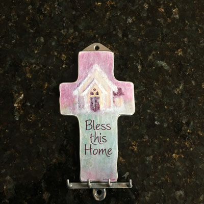 Bless This Home - Key Hook/Holder LARGE