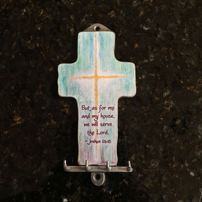 Me and My House Will Serve the Lord - Key Hook/Holder LARGE