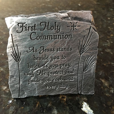 First Holy Communion Slate Plaque LARGE
