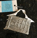 FAITH Pewter Wall Ornament by Cynthia Webb
