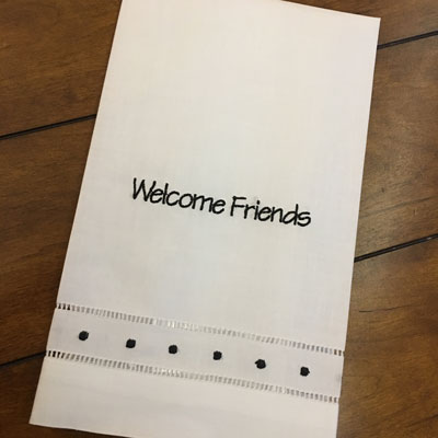 Welcome Friends Guest Towel