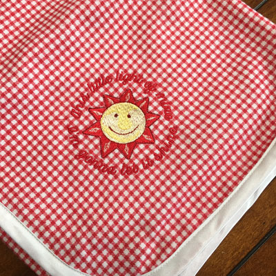 Red/White Checked Flannel Baby Blanket LARGE