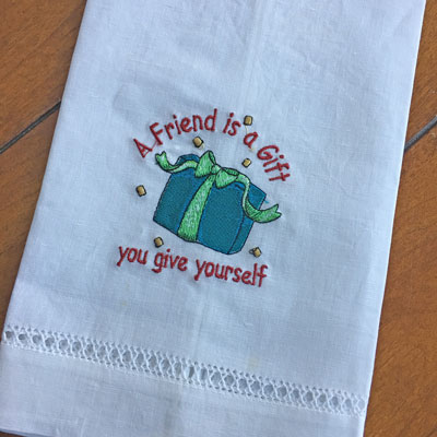 'A Friend is a Gift' Guest Towel LARGE