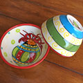 Handpainted Ceramic Bowl - Ornament THUMBNAIL
