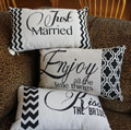 Canvas Mini Wedding Pillow - Kiss the Bride THUMBNAIL