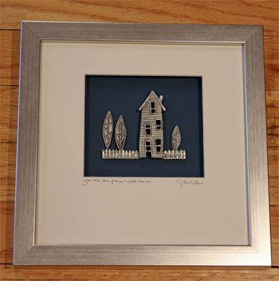 Cynthia Webb Framed Pewter Ornament - The Place I Call Home LARGE