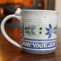 "Scripture Pottery Small Mug... ""May your joy..."" SWATCH"