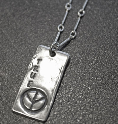 True Peace Sterling Necklace LARGE