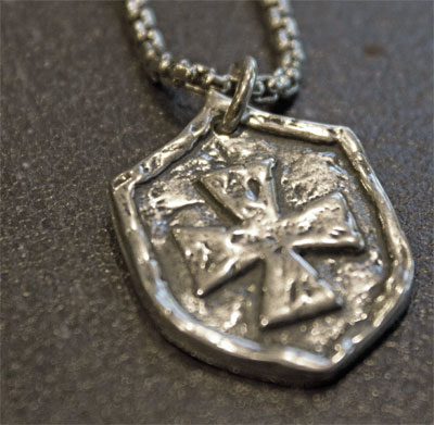 Shield of Protection Sterling Pendant