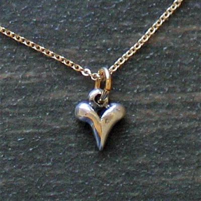 Sterling Silver Tiny Heart Necklace_LARGE