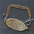 Sterling Silver Scripture Bracelet - Mark 12:30 SWATCH