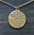 Sterling Silver Scripture Medallion - Proverbs 4:26 Mini-Thumbnail