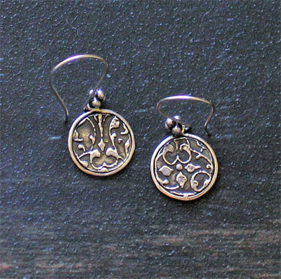 Sterling Silver Scripture Earrings - 1 John 4:4_LARGE