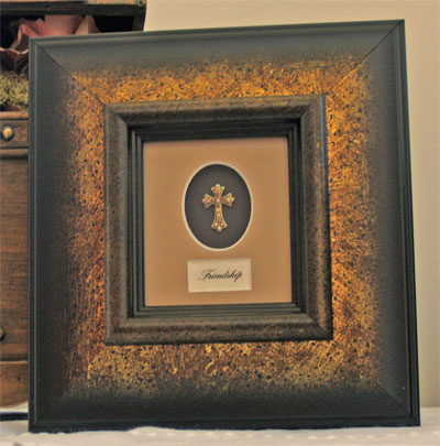 Framed Adorned Cross - Friendship LARGE
