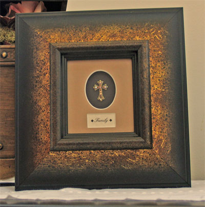 Framed Adorned Cross - Family LARGE