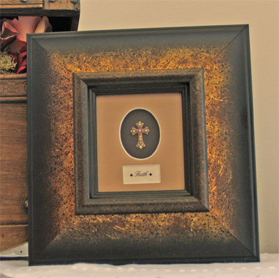 Framed Adorned Cross - Faith