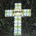 Confirmation Ceramic Wall Cross - Blue THUMBNAIL