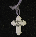 Confirmed in Christ White Ceramic Wall Cross THUMBNAIL