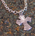 Handcast Silver Urban Cross Necklace
