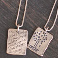 Sterling Silver Psalm 1:3 Necklace - Prosper THUMBNAIL