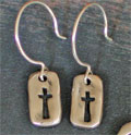 Savior Sterling Silver Earrings on French Hoop Wires THUMBNAIL