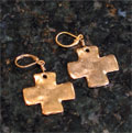Handcast Gold Cross Earrings_THUMBNAIL
