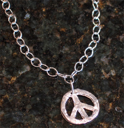 Handcast Silver Peace Sign Necklace_LARGE