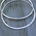 Ecclesiastes 3:1 Sterling Silver Contra Twist Bangle SWATCH