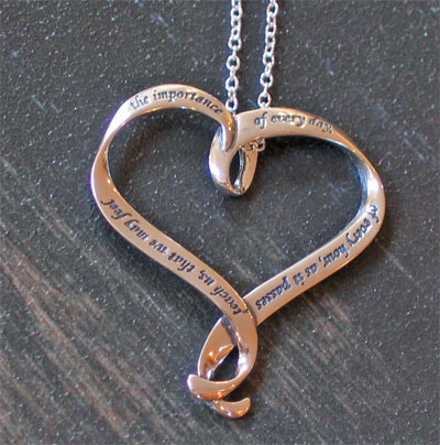 Teach us... Sterling Silver Necklace