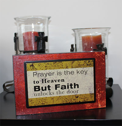 Prayer is the key... Shelf Block