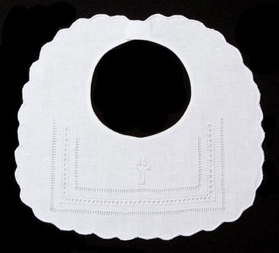 Gilucci Hemstitch Christening Bib LARGE