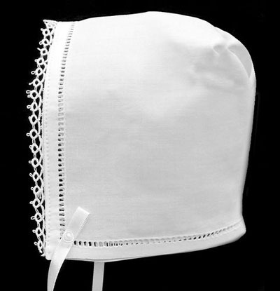 Plain Hemstitch Baby Bonnet