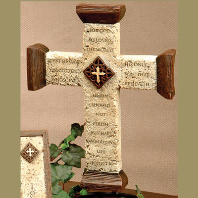 "10"" Wall Cross - John 3:16"