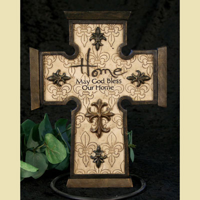 May God Bless Our Home Wall Cross