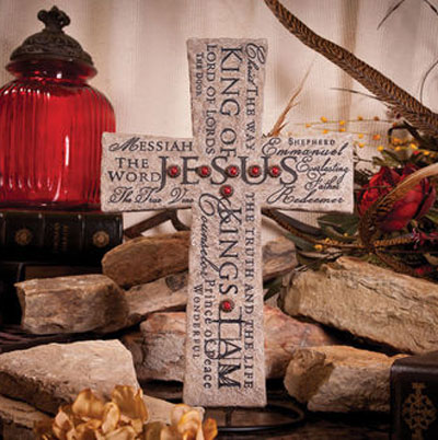 Names of Jesus... Decorative Wall Cross LARGE