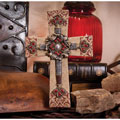 "10"" Jeweled Resin/Metal Cross"