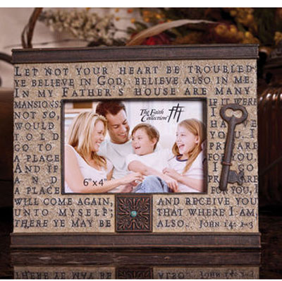 Let Not Your Heart Be Troubled Resin Photo Frame LARGE
