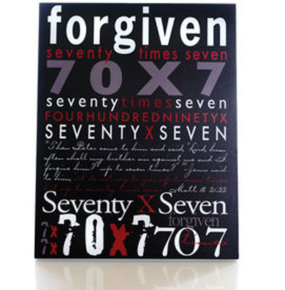 FORGIVEN Wall Plaque LARGE