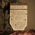 "12"" Wall Plaque with Old Testament Books"