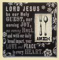 Lord Jesus Be Our Holy Guest… Amen  Wall Art THUMBNAIL