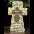 "8"" Serenity Prayer Standing Cross THUMBNAIL"