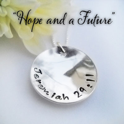 HOPE Jeremiah 29:11 Sterling Silver Necklace LARGE