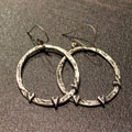 Love All Around Sterling Silver Hoop Earrings with Hearts SWATCH