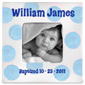 Personalized Baby Boy Baptism Photo Frame THUMBNAIL