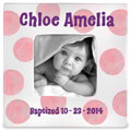Personalized Baby Girl Baptism Photo Frame THUMBNAIL