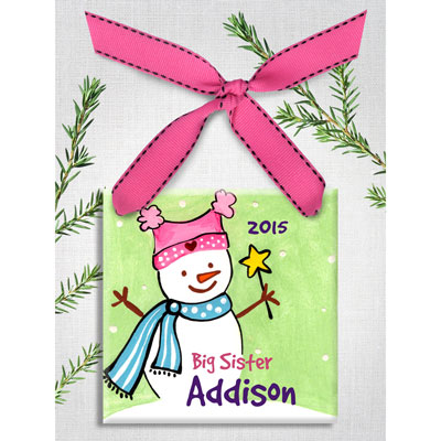 Personalized Big Sister Christmas Ornament
