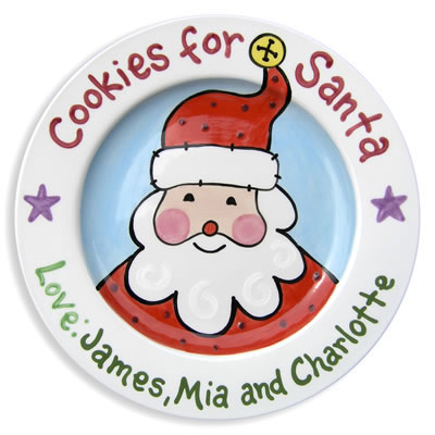 Personalized Cookie Plate for Santa - Santa