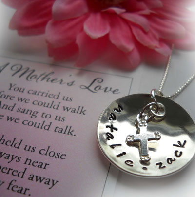 Love Thy Mother Hand Stamped Necklace LARGE