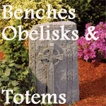 Personalized Memorial Garden Benches, Obelisks and Totems