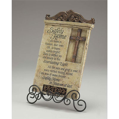 Safely Home - Bereavement Resin Desk Plaque